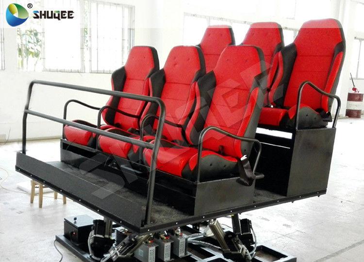 6 Seats Platform 7D Movie Theater Game Machine Shooting Gun Game Motion  Chair